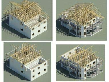 3d house modeling