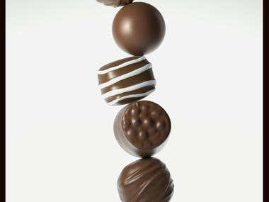 3d Chocolate modeling and texturing