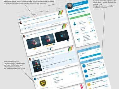 Freelancer.com Newsfeed Page Redesign