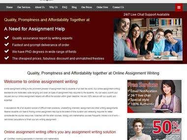 Online System for Writing Services (50+ websites)