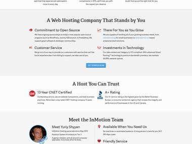 Hosting Provider website