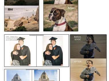 PhotoShop & Lightroom Editing