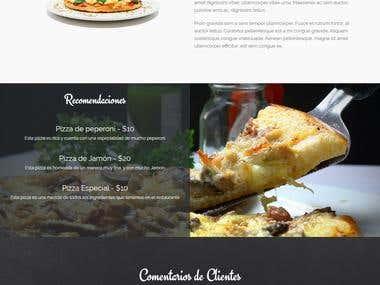 Diseño de restaurante y creación de tema Wordpress