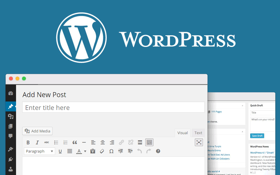 Posting contents using Wordpress