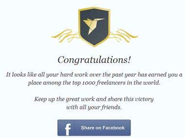 The top 1000 freelancers in the world!