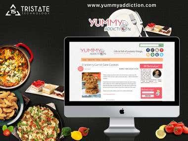 Yummy Addiction - Blogger Website