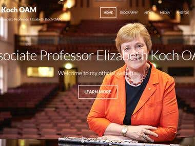 Website for musician Elizabeth Koch