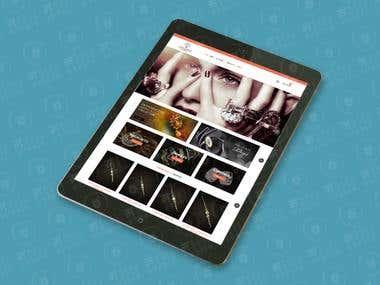 Abhusion jewelry E-Commerce Website (Wordpress)