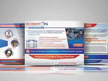 Soberon Website Mockup and Logo Design