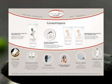 Flyer design for Caractere Paris