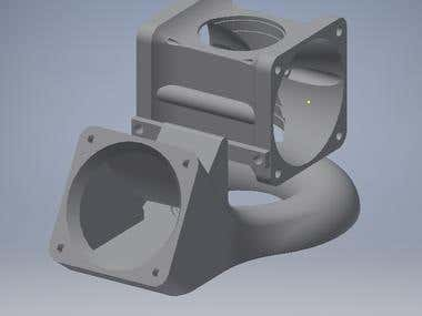 The cooling system for 3D printer