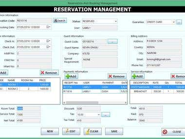 Hotel Room  and Guest Management System