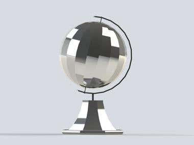 Build a Globe with a socket in cad