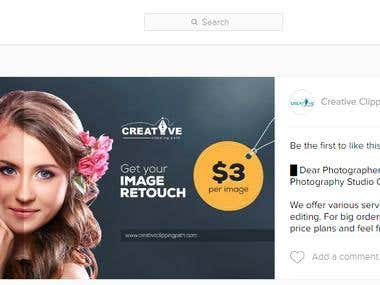 Instagram Ads for Creative Clipping Path