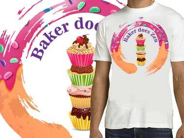 Baker Does Zen T-shirt design