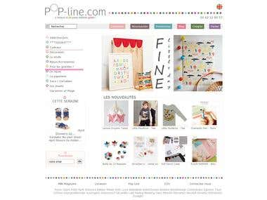 pop-line.com use Prestashop