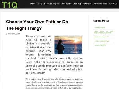 Choose Your Own Path or Do The Right Thing?