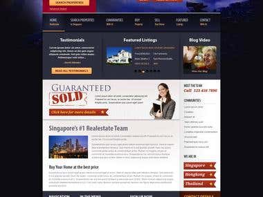 Realestate site design