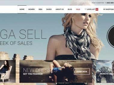 glammy : woman cloth ecommerce application