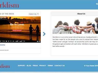 Worldism : a online social networking website