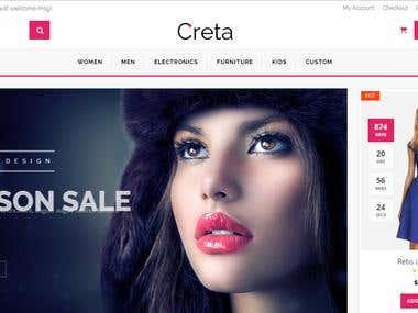 Creata fashion Ecommerce Website
