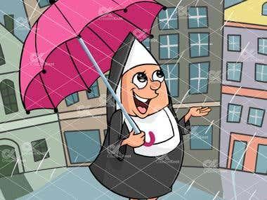Nin in Rain