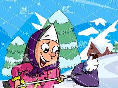 Nun in Winter
