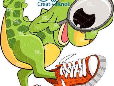 Dino with shoo