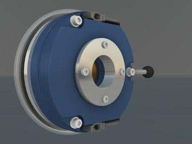 Spring applied rotor brake