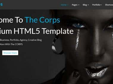 theCORPS - Multi-Purpose HTML5 Template