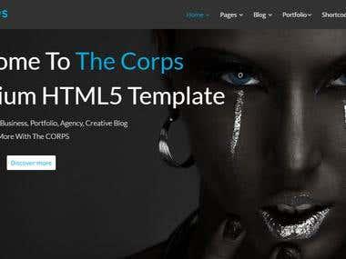theCORPS - Multi-Purpose HTML5 Template