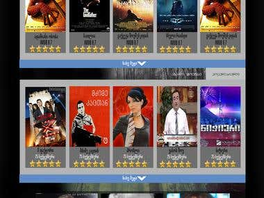 Movie's Website design