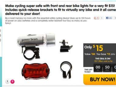 Promoted one of the product (Bicycle LED lights)