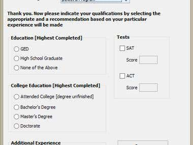 Admission Form design and implementation