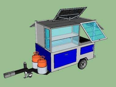 Food cart Design - Google Sketchup