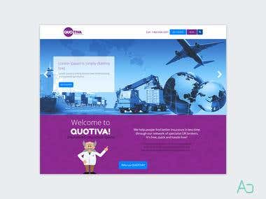 Quotiva - Website Mockup