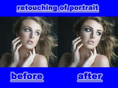 retouching of portrait photography