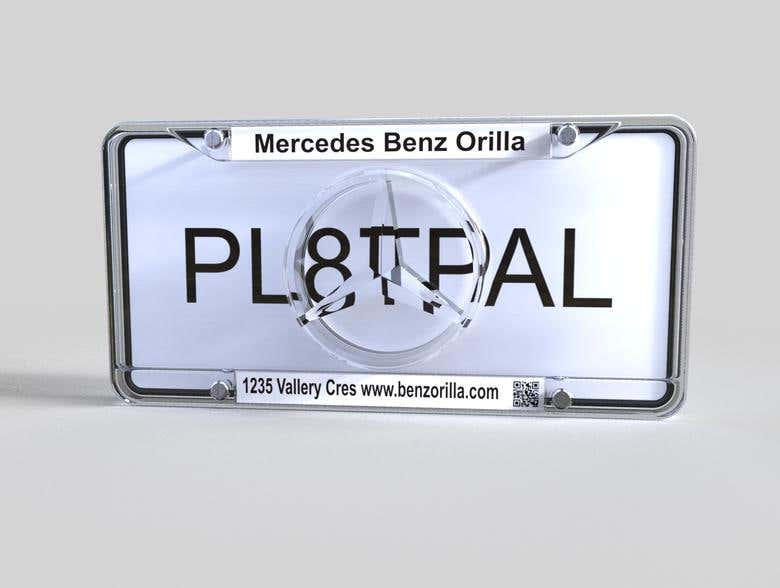 Model of licence plate cover | Freelancer