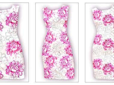 Textile design pattern for fashion project