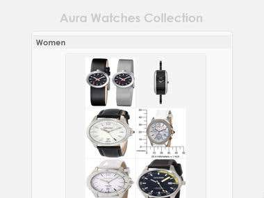 Aura Shopping Site