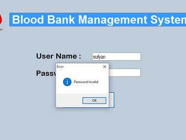 Blood Bank Management System in Visual Basics