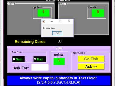 Go Fish Cards Game in MATLAB