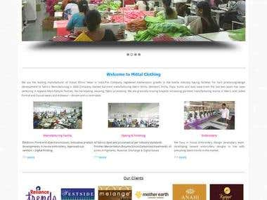 Mittal Clothing - Corporate Web Portal