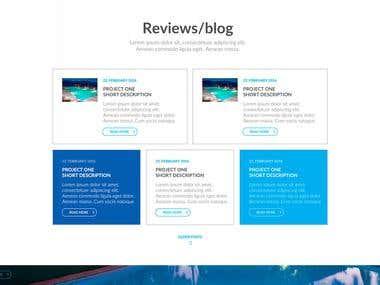 Web design - mockup