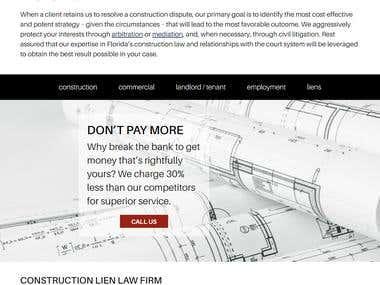 DST Construction Attorney Website