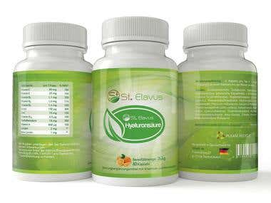 Label for organic dietary supplement product.
