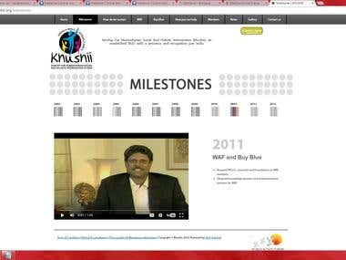 www.khushii.org - A NGO Website