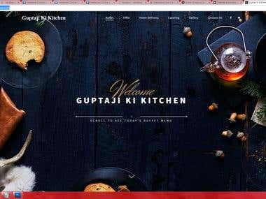 www.guptajikitchen.com Wordpress Woocommerce  Restaurant