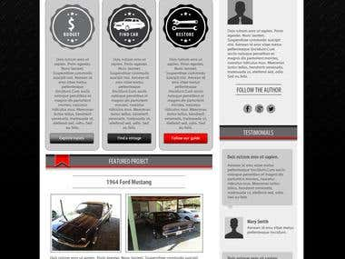 Classic Car WordPress Website Mockup