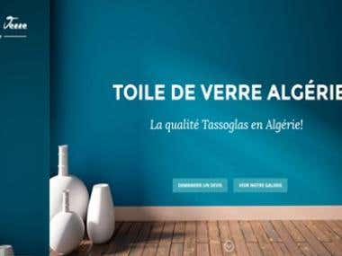 Web site for a glass company in algeria